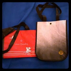 Lululemon & Vera Bradley Small Reusable Bags